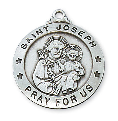 Sterling Silver Saint Joseph with 24-inch Chain