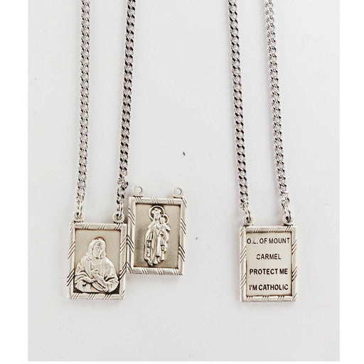Sterling Silver 2Pc Scapular 30-inch Ch&Box-inch
