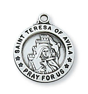 Sterling Silver Sml Saint Teresa of Avila with 18 inch Chain