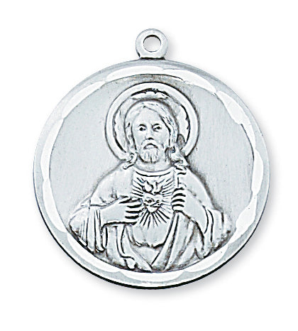 Sterling Silver Scapular with 24-inch Chain