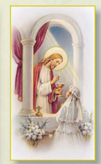 100-Pack - Communion Girl Holy Card