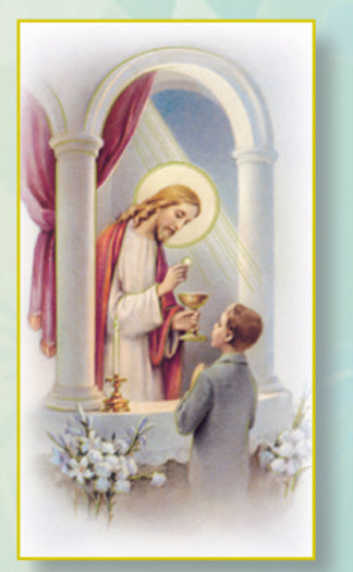 100-Pack - Madrid Communion Holy Card Boy