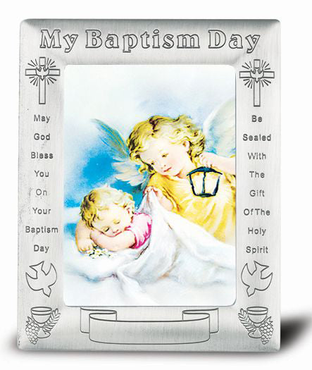 Angel with Latern In Baptism Frame