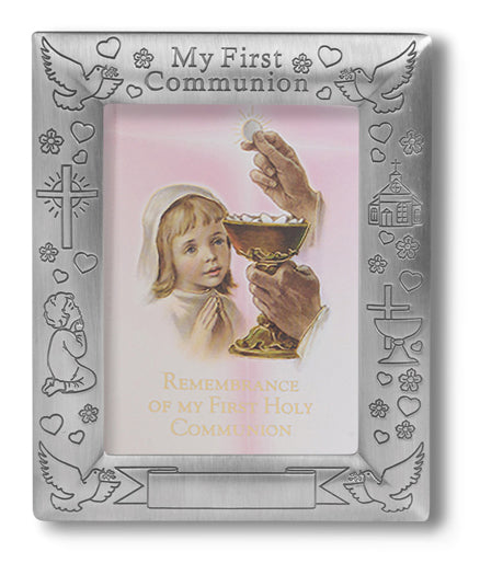 Pewter Communion Photo Frame 5X7-inch
