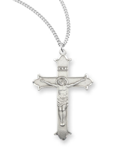 Pewter 13/16-inch Cross Pendant On 18-inch Chain.