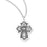 13/16-inch Pewter 4-Way Medal On 18-inch Chain