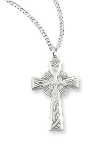 1 1/4-inch Pewter Celtic Cross On 24-inch Chain