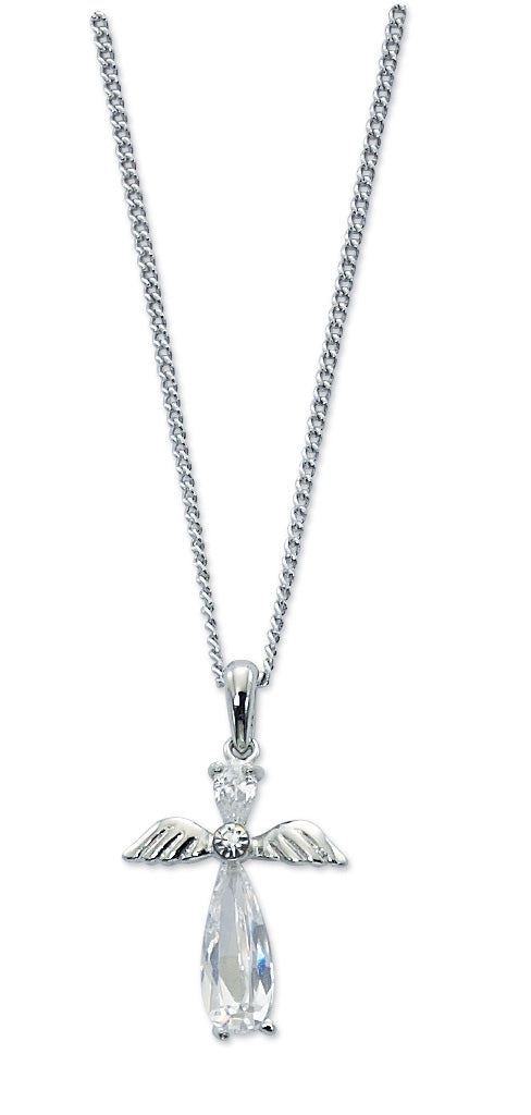 16-inch Crystal Angel Pendant