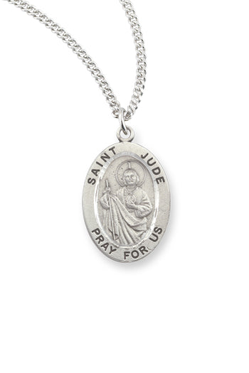 1 1/16-inch Pewter Saint Jude Medal On 24-inch Chains