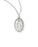 7/16-inch Pewter Miraculous Medal On 18-inch Chain