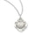 3/4-inch Confirmation Pewter Pendant On 18-inch Chain