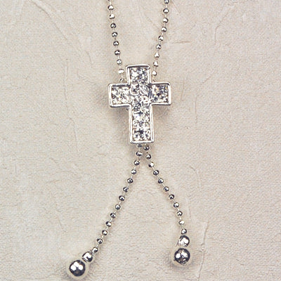 16-inch Crystal Stone Cross
