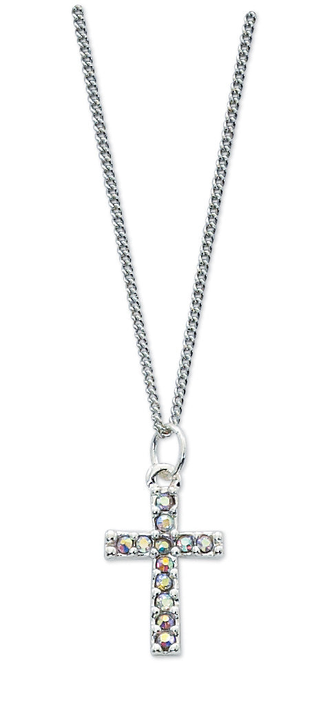 Crystal Cross With 16-inch Chain