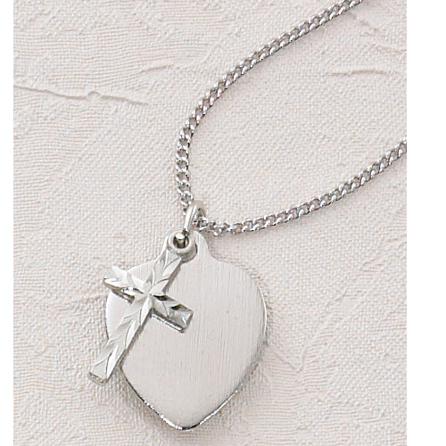 16-inch Cross Heart Pendant