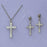Rf Crucifix and Earring Set