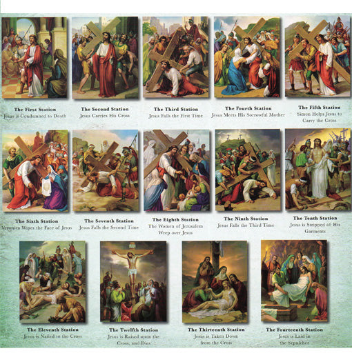 Stations Of The Cross Poster Set 6X8