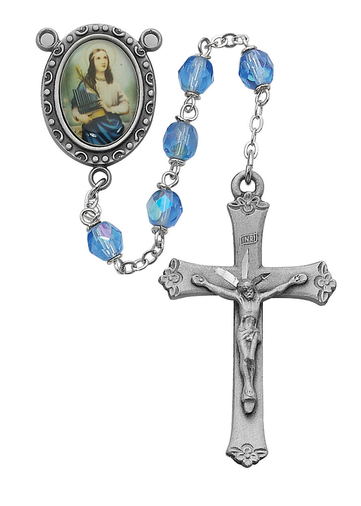 St Cecilia Rosary - Engravable