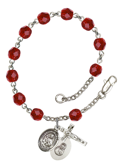 Our Lady of Mount Carmel Rosary Bracelet