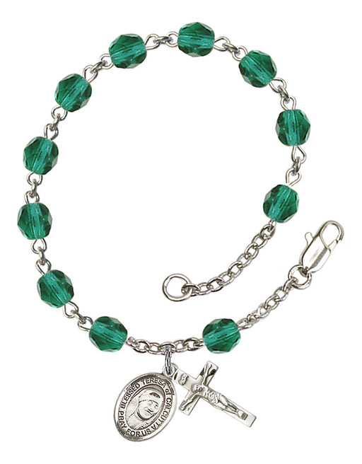 Blessed Teresa of Calcutta Rosary Bracelet
