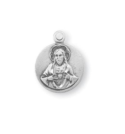 5/8-inch Sterling Silver Scapular Medal with 18-inch Chain
