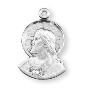 3/4-inch Sterling Silver Scapular Medal with 18-inch Chain