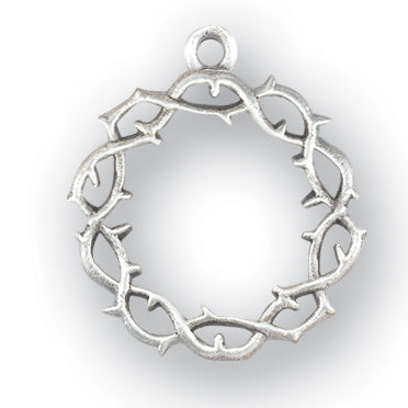 1-inch Sterling Silver Crown of Thorns with 20-inch Chain