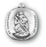 Sterling Silver Rounded Edge Square Saint Christopher Medal