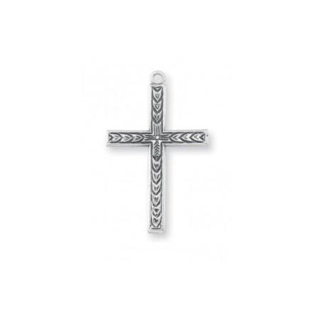 15/16-inch Sterling Silver Cross with 20-inch Chain