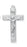 1 13/16-inch Sterling Silver Crucifix with 24-inch Chain