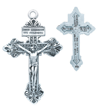 1 1/4-inch Sterling Silver Pardon Crucifix with 24-inch Chain
