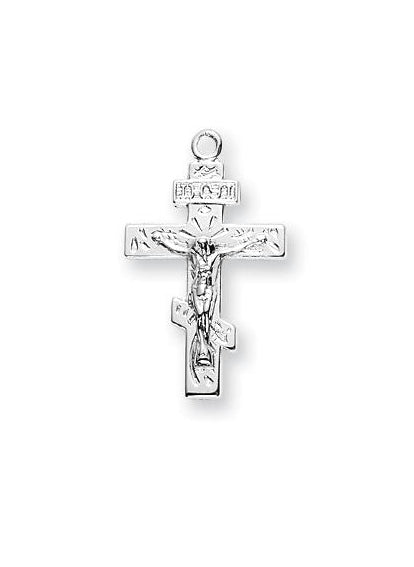 3/4-inch Sterling Silver Crucifix with 18-inch Chain