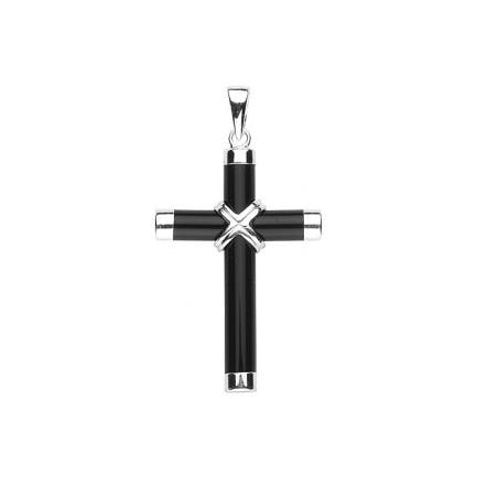 Genuine Onyx Cross with 20-inch Chain