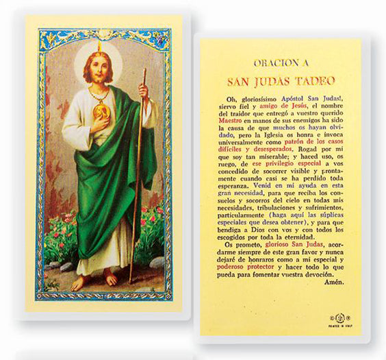 25-Pack - Oracion A San Judas Tadeo Holy Card