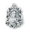 13/16-inch Sterling Silver Saint Therese Medal with 18-inch Chain