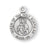 3/4-inch Round Sterling Silver Scapular Medal with an 18' Chain