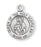Sterling Silver Round Shaped Holy Scapular (2 Sided) Medal
