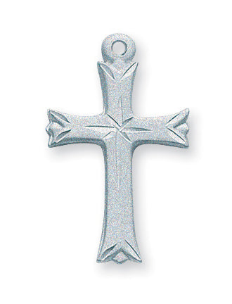 1-inch Sterling Silver Cross with 18-inch Chain