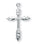 1 1/8-inch Sterling Silver Wheat Cross with 18-inch Chain