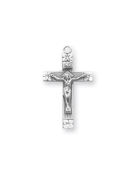 1-inch Sterling Silver Crucifix with 18-inch Chain