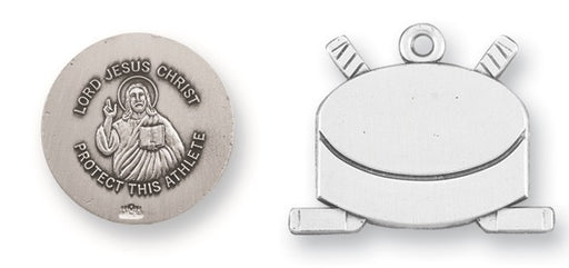 Sterling Silver Christ Hockey Athlete Medal