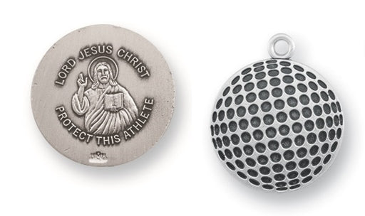 Sterling Silver Christ Golf Athlete Medal