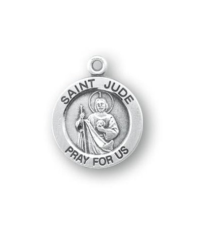 Sterling Silver Round Shaped Saint Jude Medal