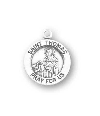 Sterling Silver Round Shaped Saint Thomas Medal