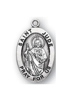 Sterling Silver Oval Saint Jude Medal