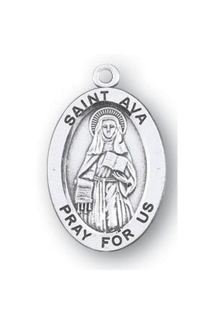 Sterling Silver Oval Shaped Saint Ava Medal