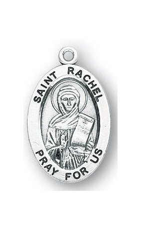 Sterling Silver Oval Shaped Saint Rachel Medal