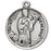 Sterling Silver Round Shaped Saint Genesius Medal