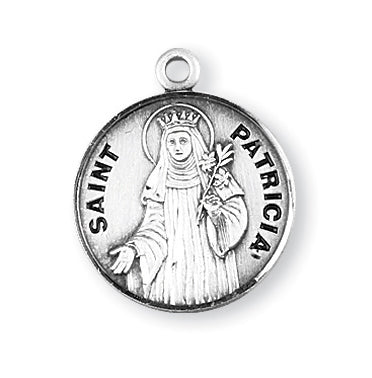 Sterling Silver Round Shaped Saint Patricia Medal