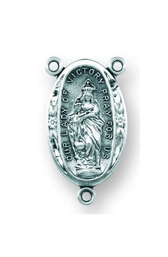 Sterling Silver Our Lady of Victory Rosary Center