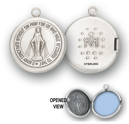 Sterling Silver Miraculous Medal Locket